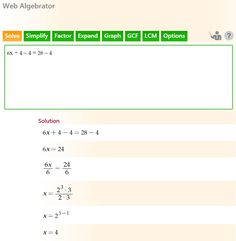 Solve equations, simplify expressions with Step-by-Step Math Problem Solver Algebra Help, Algebra Problems, Algebra Worksheets, Math Word Problems, Math Help, Math Problem Solver, Math Solver, Solving Linear Equations