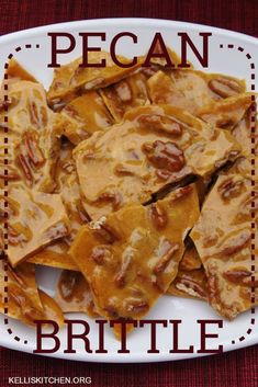 Fool-proof easy peanut brittle recipe made in the microwave for a quick and easy Christmas candy! This homemade Christmas dessert recipe is a great beginner recipe to try. Save this simple Christmas treat for later! Peanut Brittle Recipe, Brittle Recipes, Pecan Recipes, Candy Recipes, Sweet Recipes, Holiday Recipes, Dessert Recipes, Cooking Recipes, Microwave Pecan Brittle Recipe