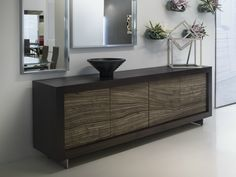 Sideboard with doors PICASSO Stone Door by RIFLESSI design Riflessi