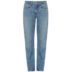 Helmut Lang Low-slung boyfriend jeans (€275) ❤ liked on Polyvore featuring jeans, denim, relaxed jeans, blue denim jeans, relaxed straight leg jeans, low-rise boyfriend jeans and denim jeans