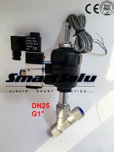 100.00$  Buy here - http://ali0e7.worldwells.pw/go.php?t=32763580145 - Free shipping DN25 pneumatic angle valve mounted with proximity switch and solenoid valve G1