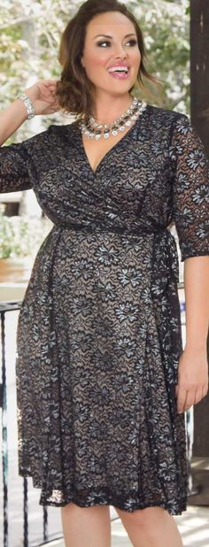 Glittering Affair Wrap Dress, Plus Size Plus Clothing, Size Clothing, Plus Size Dresses, Plus Size Outfits, Curvy Women Fashion, Womens Fashion, Stunning Dresses, Eileen Fisher, Affair