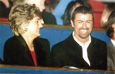 Princess Diana with George Michael