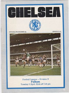 Vintage Football soccer Programme  Chelsea v by DakotabooVintage