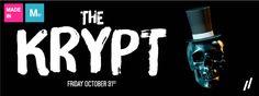 """The Krypt"" Halloween Party design by Matter Branding #illustration #font #typography #matterbranding #matter #mtr"