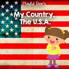 FREEBIE -->  My Country, The USA Preschool Unit from sponsor @educents!