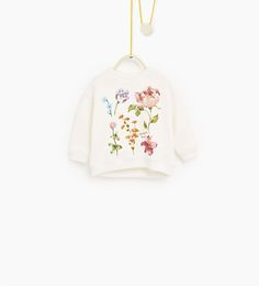 Floral sweatshirt-NEW IN-BABY GIRL | 3 months-4 years-COLLECTION AW16 | ZARA United Kingdom