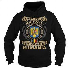 Live in Norway - Made in Romania Special - #custom sweatshirts #wholesale sweatshirts. BUY NOW => https://www.sunfrog.com/States/Live-in-Norway--Made-in-Romania-Special-Black-Hoodie.html?60505