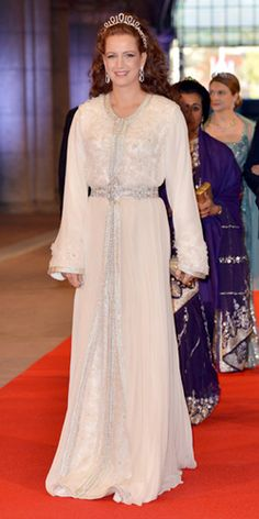 Princess Lalla Salma of Morocco stormed to success of HELLO! Online's, best dressed at Dutch king Willem-Alexander's inauguration. Morrocan Dress, Moroccan Caftan, Arab Fashion, Royal Fashion, Fashion Women, Fashion Ideas, Modesty Fashion, Fashion Dresses, Caftan Gallery