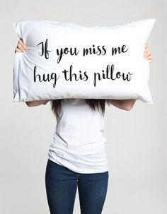 Long distance relationship Gift Pillow Boyfriend Love Friendship Friend I miss you gifts If you miss me hug this pillow ldr Missing gifts