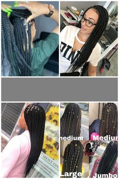 "#medium box braids HandsNheartss on Instagram: ""MEDIUM KNOTLESS BOX BRAIDS 💕💕 . . #knotlessboxbraids #knotlessbraidsnyc #knotlessbraids #braids #neatfreak #brooklynbraider #nycbraids…"""