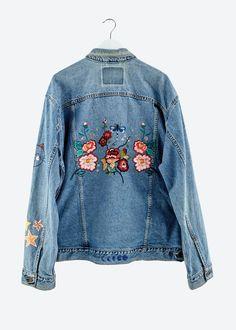 15 id es pour customiser une veste en jean vestes vestes en jean et nouvelle vie. Black Bedroom Furniture Sets. Home Design Ideas