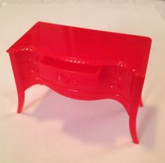 A personal favorite from my Etsy shop https://www.etsy.com/listing/251276210/renwal-red-buffet-with-drawer-that