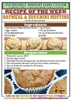 Oatmeal & Zucchini Muffins
