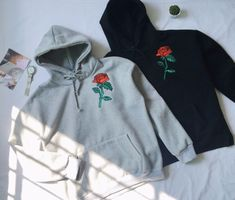 Rose Embroidered Sweatshirt sold by hhotaru . Shop more products from hhotaru on Storenvy, the home of independent small businesses all over the world.