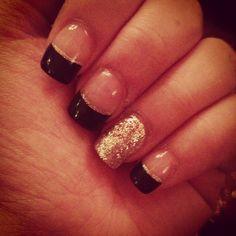 Black tips nails: Shady's Nails follow me on instagram @ snowbunny23