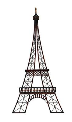 Eiffel Tower Wall Art black metal eiffel tower wall decor with gemstones | shape