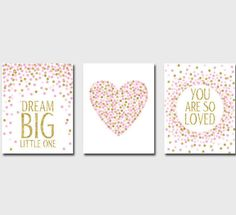 Set of Prints Nursery Prints Dream Big Little by EllenPrintable