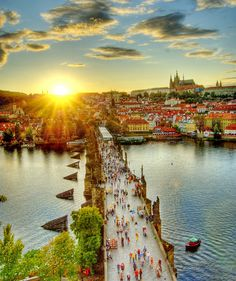 Castle Charles bridge, Prague.