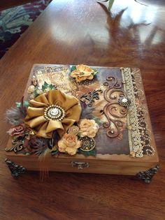Decorated box.