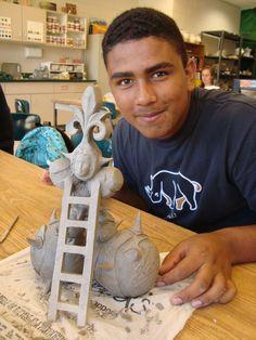 Totem Towers   East Chapel Hill High Ceramics
