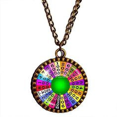Wheel Of Fortune Necklace cosplay fashion Jewelry Charm chain Gift symbol Pendant