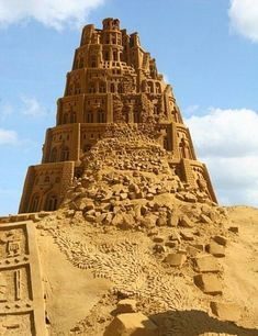 The Pyramid War by the Anunnaki God-Kings Enki, Enlil, Ra, Osiris and Horus leading to Marduk's construction of a Spaceport or Spacetower at Babel Ancient Mesopotamia, Ancient Civilizations, Ancient Aliens, Ancient History, Ancient Symbols, Turm Von Babylon, Tower Of Babel, Snow Sculptures, Sumerian