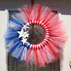 My 4th of July homemade wreath