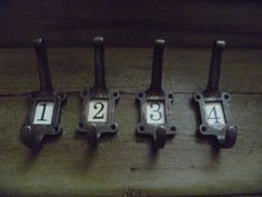 4 x Metal cast iron School wall coat  Hooks  by UpcyceIndustrials