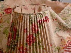 Etapes de fabrication pour abat-jour tissu tendu