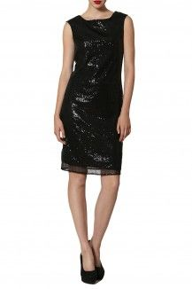 Black Sheath Sequinned Dress By Michelle Salins  Rs. 7,300