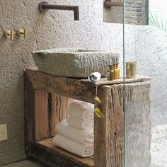 Wood.Stone.Contemporary Fixtures