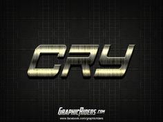 Action style – CRY (free photoshop layer style, text effect) #graphicriders