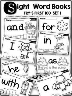 Sight word books(a comprehensive set) . Preschool Sight Words, Teaching Sight Words, Sight Word Practice, Sight Word Games, Sight Word Activities, Kindergarten Literacy, Literacy Games, Teaching Phonics, Literacy Centers