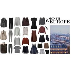 """a month in europe"" by averona on Polyvore"