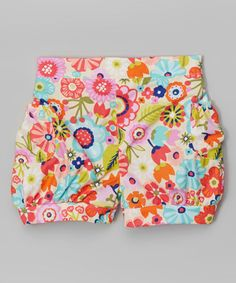 Look what I found on #zulily! Pink & Teal Spring Break Bubble Shorts - Toddler & Girls by Waistin' Away #zulilyfin