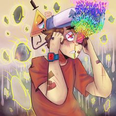 linklyshow: What can I say I stayed up to prove I can keep up with you Dipper And Bill, Dipper And Mabel, Dipper Pines, Gravity Falls Bill Cipher, Gravity Falls Art, Cartoon Movie Characters, Bipper, Fall Cleaning, Reverse Falls