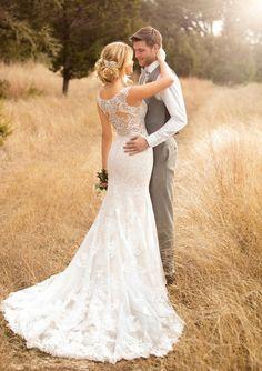 Tendance Robe du mariée 2017/2018  Essense of Australia sheer lace wedding dress
