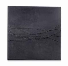 Untitled signed and dated 'ARMANDO 3/62' (on the reverse) barbed wire on painted board 121 x 121 cm. Executed in 1962