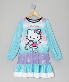 Take a look at this Aqua & Lavender Hello Kitty Nightgown - Girls by Hello Kitty on #zulily today!