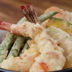 Ways to Eat Cock: low carb tempura batter recipe online recipes today! Seafood Dishes, Seafood Recipes, Cooking Recipes, Sauce Recipes, Fried Shrimp Recipes, Pastry Recipes, Tasty Videos, Food Videos, Asian Recipes