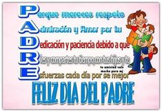 Frases dia del padre 2019 originales | El Banco de IMAGENES GRATIS Message For Father, Content, Messages, Baseball Cards, Alonso, Papi, Tattoo, Groomsmen, Mommy Quotes