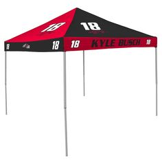 Kyle Busch NASCAR 9' x 9' Checkerboard Color Pop-Up Tailgate Canopy Tent