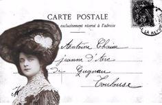 Brocante Brie, postkaartje vintage