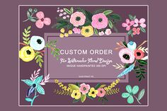 Posted by @newkoko2020 Custom Order for Watercolor Design by pdeasyprint on @creativemarket