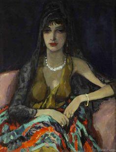 by Johannes Carolus Bernardus (Jan) Sluijters, or Sluyters ( 1881 - 957, Amsterdam) Dutch painter.  Expressionist