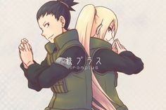 Shikamaru and Ino . / ShikaIno... Don't ship them but it's a nice pic