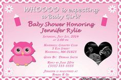Owl Girl Baby Shower Invitation personalized with by GMCHDesigns