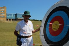 Norman Perry enjoying archery at our Ovingdean centre in Brighton Archery, Norman, Brighton, Centre, Sports, Bow Arrows, Hs Sports, Field Archery, Sport