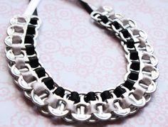 DIY pop tab necklace. Well that's original!